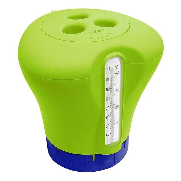 Плавающий дозатор с термометром. Kokido K619BU/Green, цвет зелёный