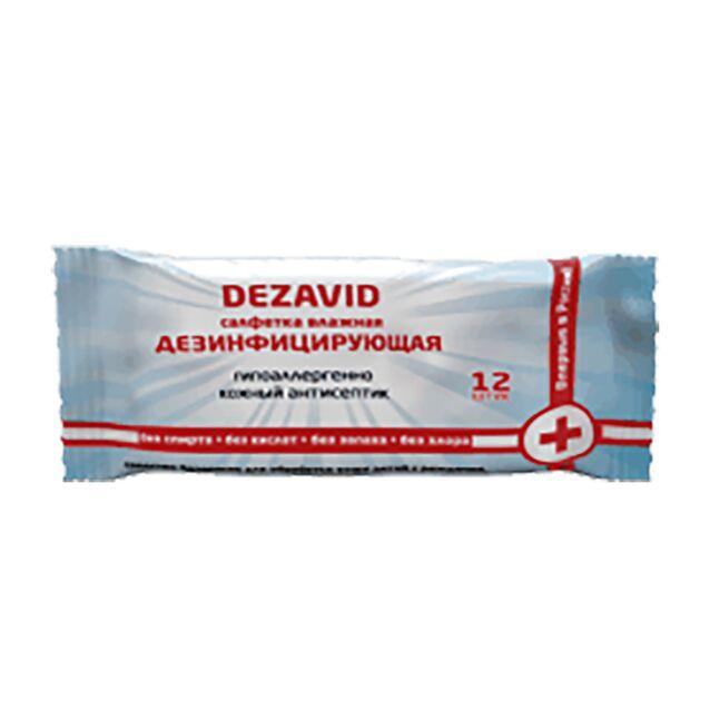 Салфетки Дезавид, Адекватные технологии, 12 шт. Дезинфицирующее средство с высокоэффективной антимикробной активностью