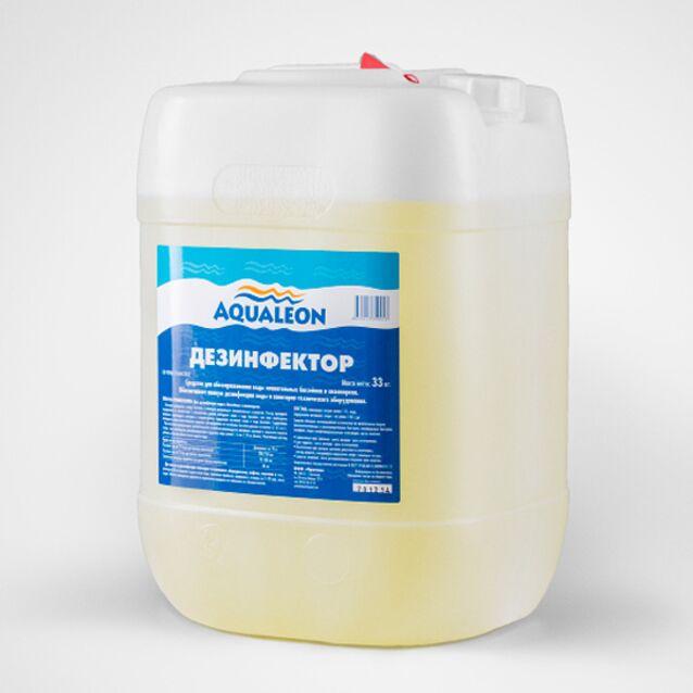 Дезинфицирующее средство жидкое, Aqualeon DN33L, 33 кг. Дезинфекция воды на основе хлора