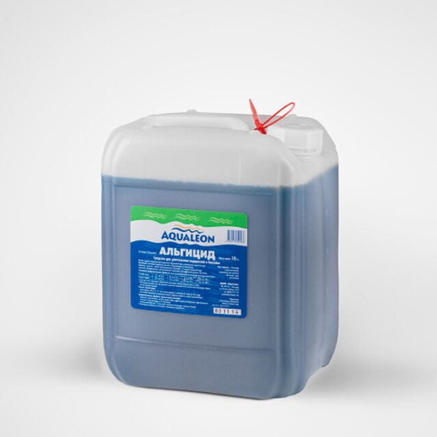 Альгицид Aqualeon AP10L, 10 кг, пролонгированного действия, непенящийся. Средство против водорослей