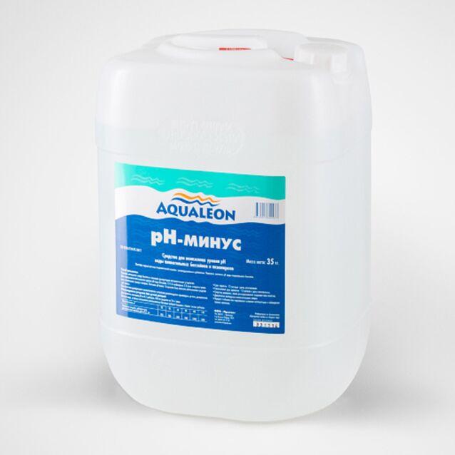 pH-минус жидкий, Aqualeon PHM35L, 35 кг. Средство для понижения уровня pH воды