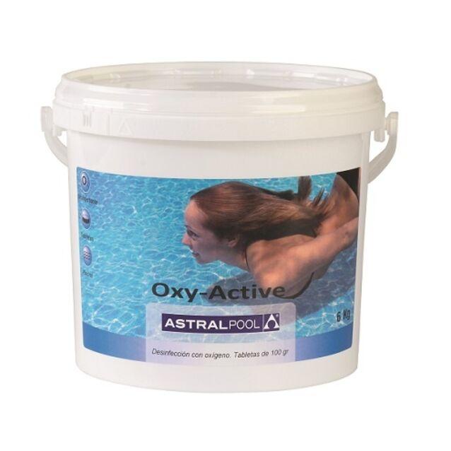 Активный кислород в таблетках 100 г, AstralPool 15979, 6 кг. Дезинфекция воды без хлора