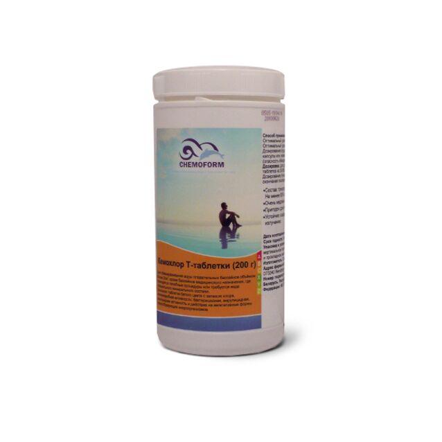 Кемохлор Т-Таблетки 200 г, Chemoform 0505001, 1 кг. Дезинфекция воды на основе стабилизированного хлора