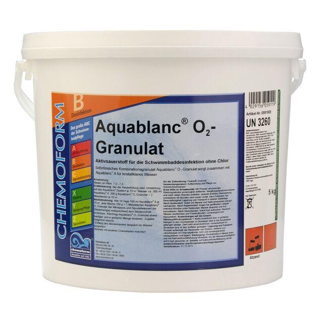 Активный кислород Аквабланк О₂ в гранулах, Chemoform 0591005, 5 кг. Дезинфекция воды без хлора