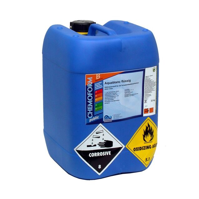Активный кислород Аквабланк жидкий, Chemoform 0593022, 22 кг. Дезинфекция воды без хлора