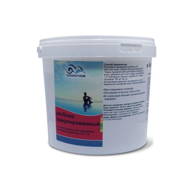 pH-плюс в гранулах, Chemoform 0802005, 5 кг. Средство для повышения уровня pH воды