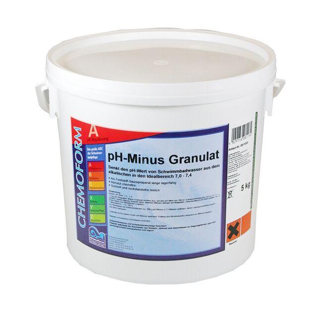 pH-минус в гранулах, Chemoform 0811005, 5 кг. Средство для понижения уровня pH воды