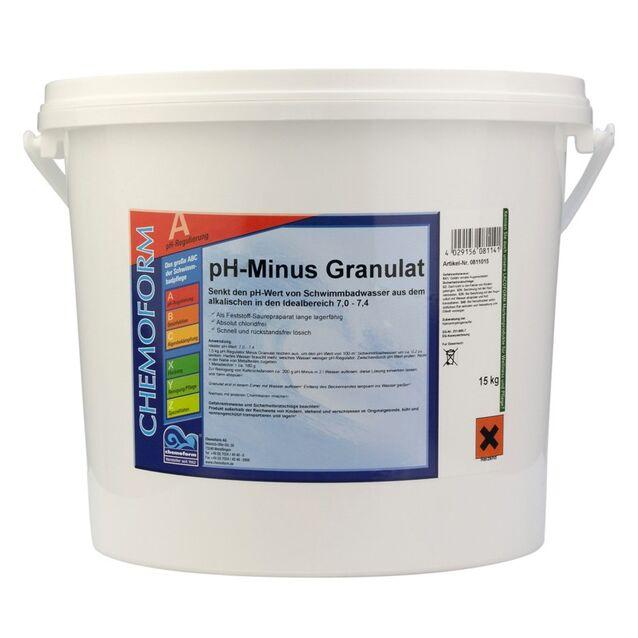 pH-минус в гранулах, Chemoform 0811015, 15 кг. Средство для понижения уровня pH воды