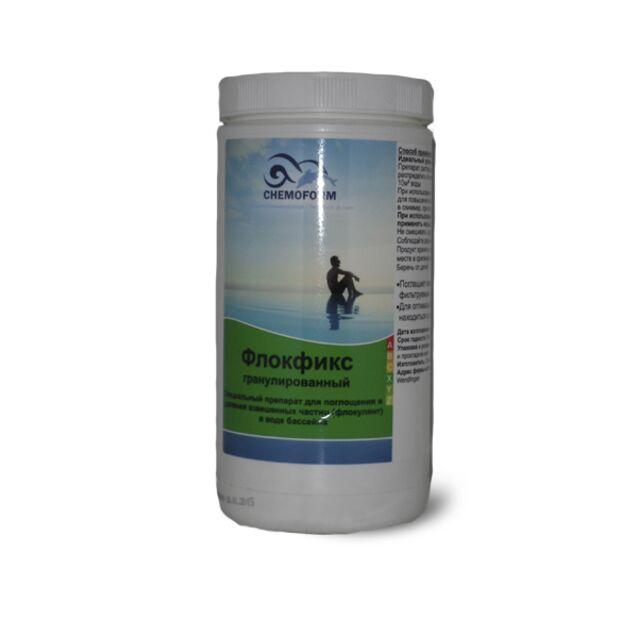 Флокулянт Флокфикс в гранулах Chemoform 0907001, 1 кг. Средство для связывания взвешенных частиц