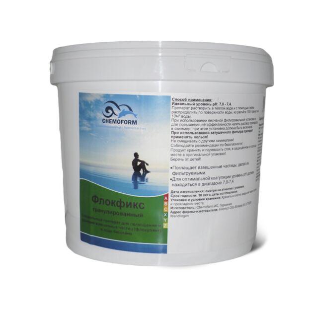 Флокулянт Флокфикс в гранулах Chemoform 0907005, 5 кг. Средство для связывания взвешенных частиц