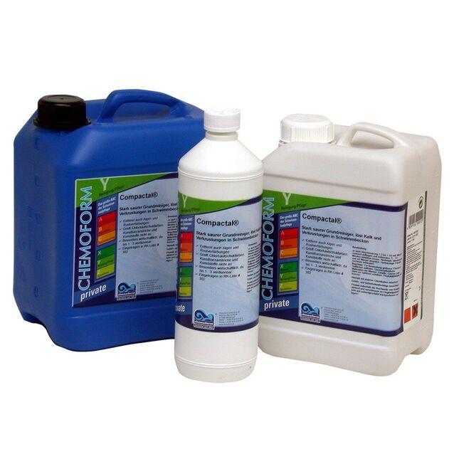 Очиститель Компактал жидкий Chemoform 1001003, 3 л. Средство для удаления известковых отложений