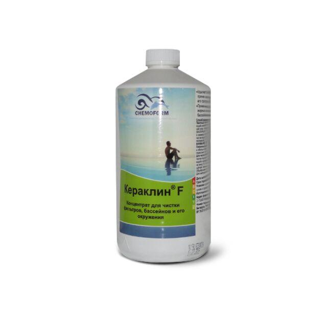Очиститель Кераклин F жидкий Chemoform 1015001, 1 л. Средство для удаления известковых отложений из фильтров