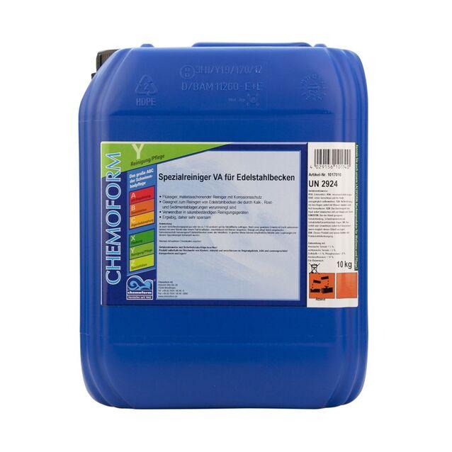 Очиститель ВА жидкий Chemoform 1017010, 10 л. Средство для очистки нержавеющей стали