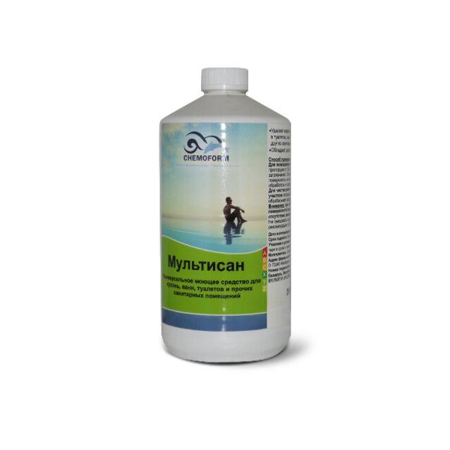 Очиститель Мультисан жидкий Chemoform 1021001, 1 л. Средство для очистки санитарных помещений