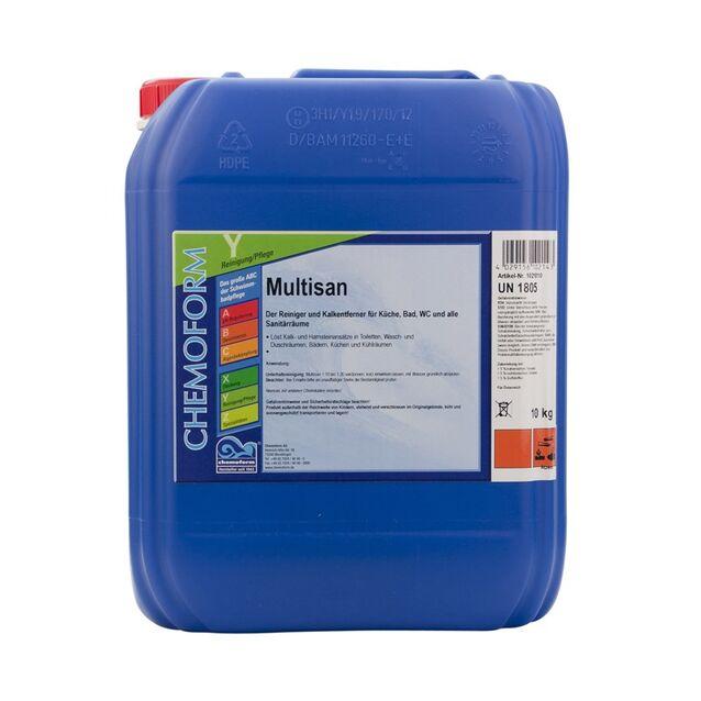Очиститель Мультисан жидкий Chemoform 1021010, 10 л. Средство для очистки санитарных помещений