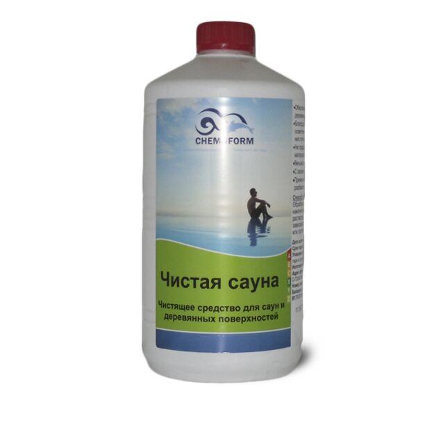 Очиститель Чистая Сауна SAUNAREINIGER жидкий Chemoform 1415001, 1 л. Средство для дезинфекции и осветления дерева