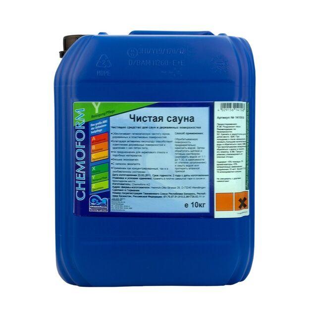 Очиститель Чистая Сауна SAUNAREINIGER жидкий Chemoform 1415010, 10 л. Средство для дезинфекции и осветления дерева
