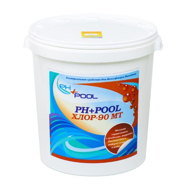 Всё-в-одном Мультитаблетки 200 г, PH+Pool 310035, 30 кг. Средство для длительной дезинфекции, флокуляции и уничтожения водорослей