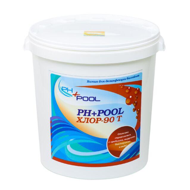 Хлор-90Т в таблетках 20 г, PH+Pool 310027, 30 кг. Дезинфекция воды на основе стабилизированного хлора