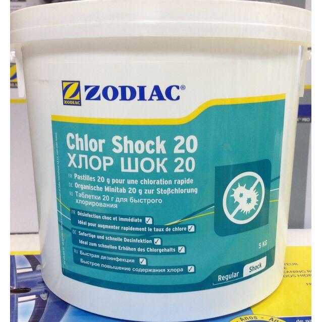 Хлор Шок таблетки 20 г, Zodiac W400194, 5 кг. Средство для ударного хлорирования воды