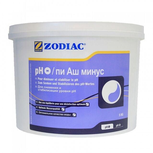 pH-минус в гранулах, Zodiac W400184, 5 кг. Средство для понижения уровня pH воды