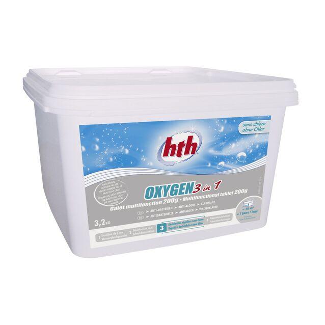 Всё-в-одном Мультитаблетки 200 г, hth D800260H2, 3.2 кг. Средство для длительной дезинфекции, флокуляции и уничтожения водорослей