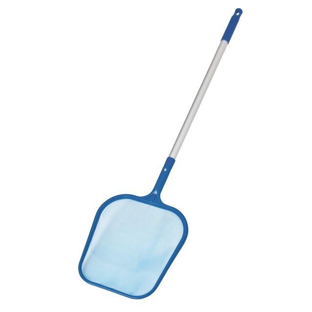 Сачок поверхностный Bestway «Clean Cast» 58325 с алюминиевой ручкой. Для сбора плавающего мусора с поверхности бассейна