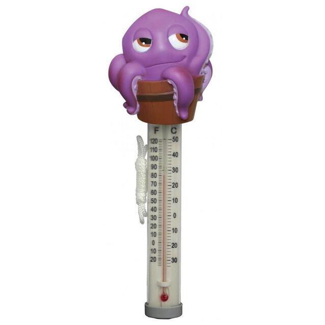 Термометр плавающий Kokido K265DIS/6P «Пучеглазики», игрушка Осминожек