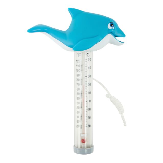 Термометр плавающий Kokido K785BU/6P «Счастливчики», игрушка Дельфин