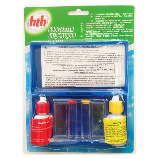 Тестовый набор ARCH Water Products hth A850308H1. Капельный комплекс для определения уровня pH воды и свободного хлора (Cl)