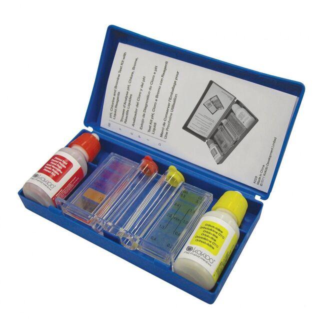 Тестовый набор  Kokido K029BU . Капельный комплекс для определения уровня pH воды, брома и свободного хлора (Cl)