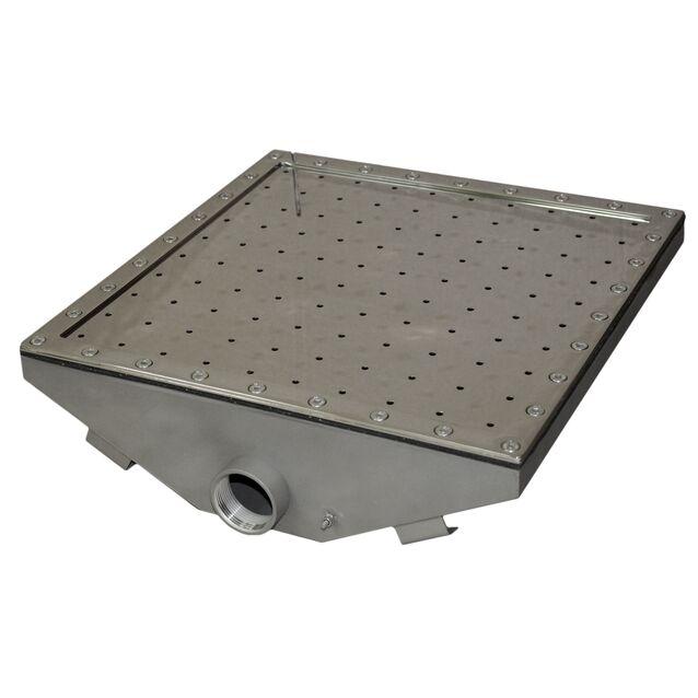 Гейзер Runvil P2-03 «Квадратный 500 × 500», под плёнку, поток 100 м³/час, подключение Ø 2 дюйма (внутренняя резьба)