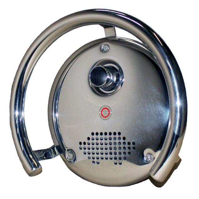 Противоток Runvil P9-03 с сенсорной кнопкой и блоком управления (закладная и лицевая панель) подсоединение Ø 2.5