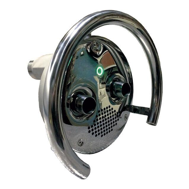 Противоток Runvil P9-04 с сенсорной кнопкой и блоком управления (закладная и лицевая панель) подсоединение Ø 2.5