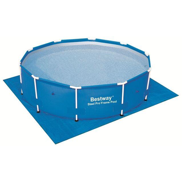 Покрытие под бассейн, подстилка Bestway 58001, 335 × 335 см