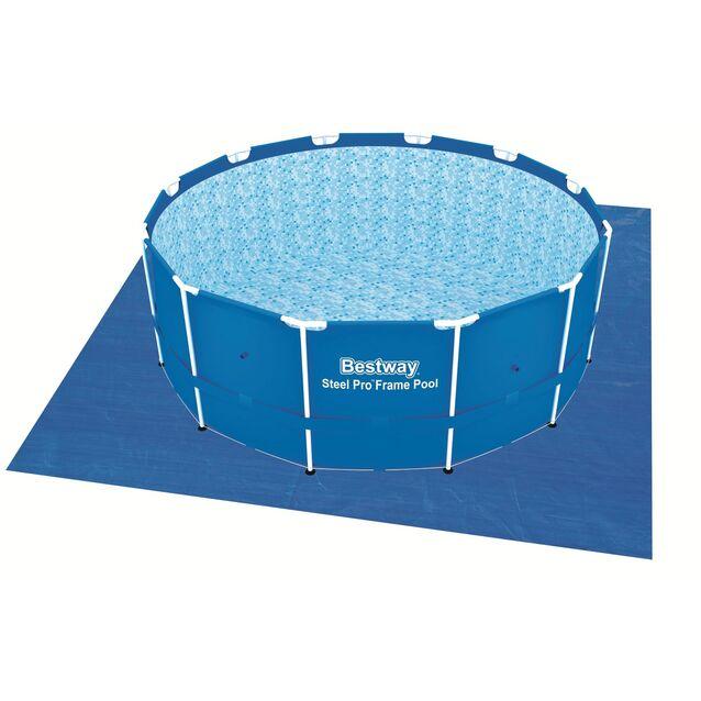 Покрытие под бассейн, подстилка Bestway 58002, 396 × 396 см