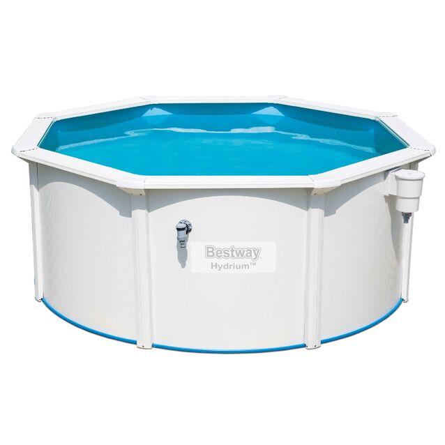 Сборный бассейн Bestway 56566 «Hydrium Pool Set», фильтр песочный, лестница, подстилка, размер 300 × 120 см