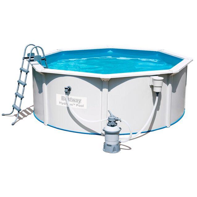 Сборный бассейн Bestway 56574 «Hydrium Pool Set», фильтр песочный, лестница, подстилка, размер 360 × 120 см