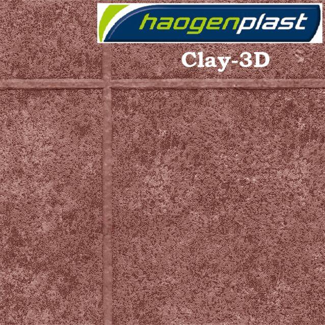 Плёнка Haogenplast «TileFlex» Clay-3D, глиняный-3D, бордово-коричневый, рулон 1.65 × 25 метров