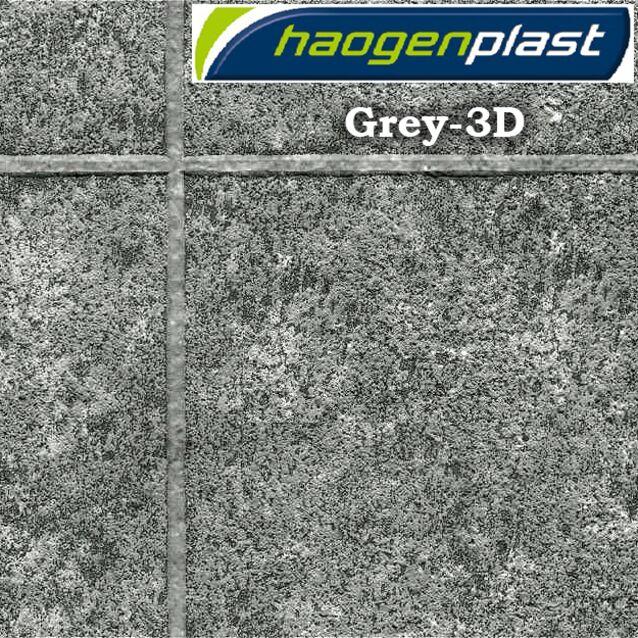 Плёнка Haogenplast «TileFlex» Grey-3D, каменный-3D, серый графит, рулон 1.65 × 25 метров