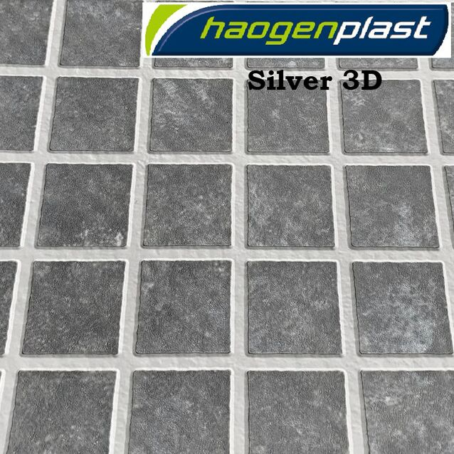 Плёнка Haogenplast «Matrix» Silver-3D, серебряная мозаика-3D, рулон 1.65 × 25 метров