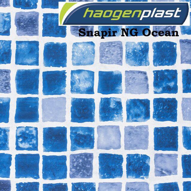 Плёнка Haogenplast «Printed Range» Snapir NG Blue, тёмно-синяя, рулон 1.65 × 25 метров
