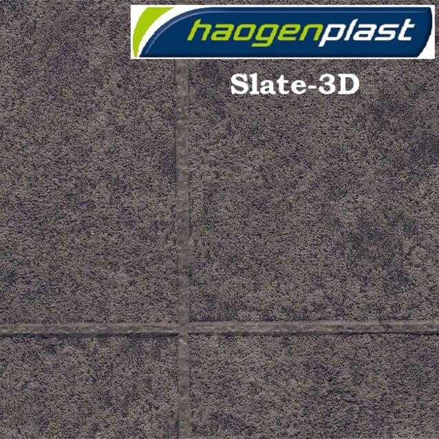 Плёнка Haogenplast «TileFlex» Slate-3D, грифельный-3D, сланец, чёрный антрацит, рулон 1.65 × 25 метров