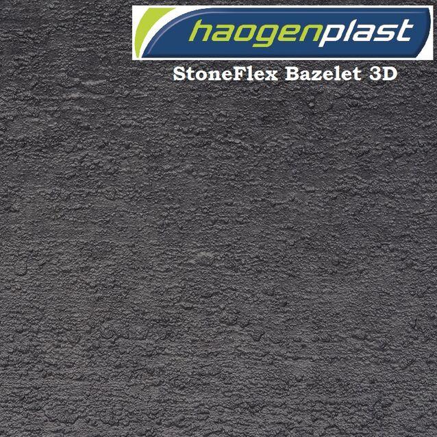 Плёнка Haogenplast «StoneFlex» Bazelet-3D, брутально-чёрный, рулон 1.65 × 25 метров