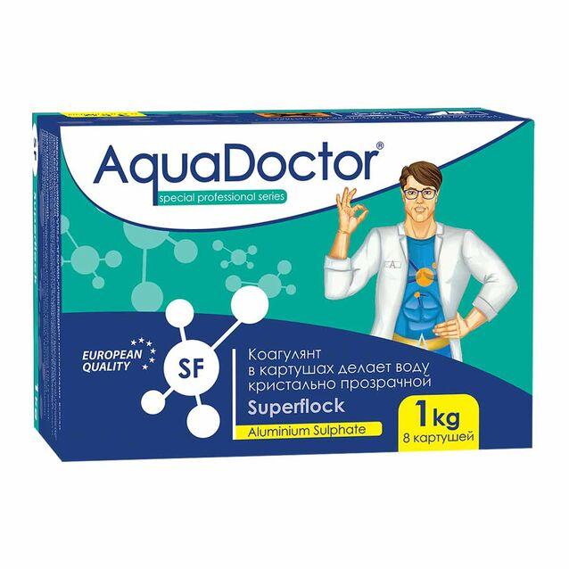Флокулянт в картриджах AquaDoctor SF Superflock, 1 кг, 8 картушей, коагулирующее средство