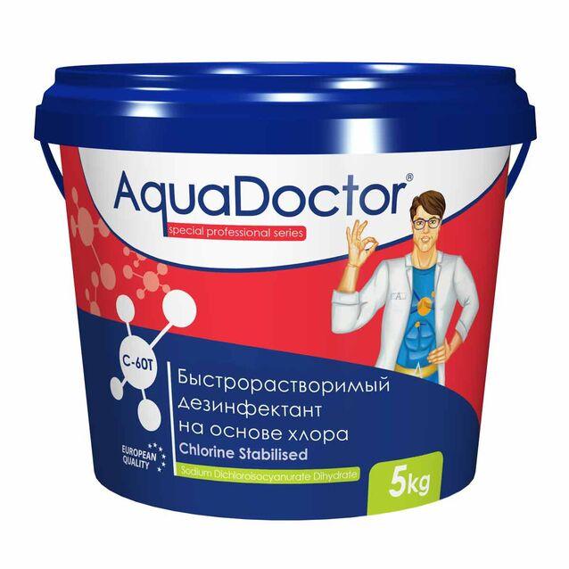 Хлор быстрого действия в таблетках 20 г, AquaDoctor C-60T, 5 кг, дезинфекция воды на основе стабилизированного хлора