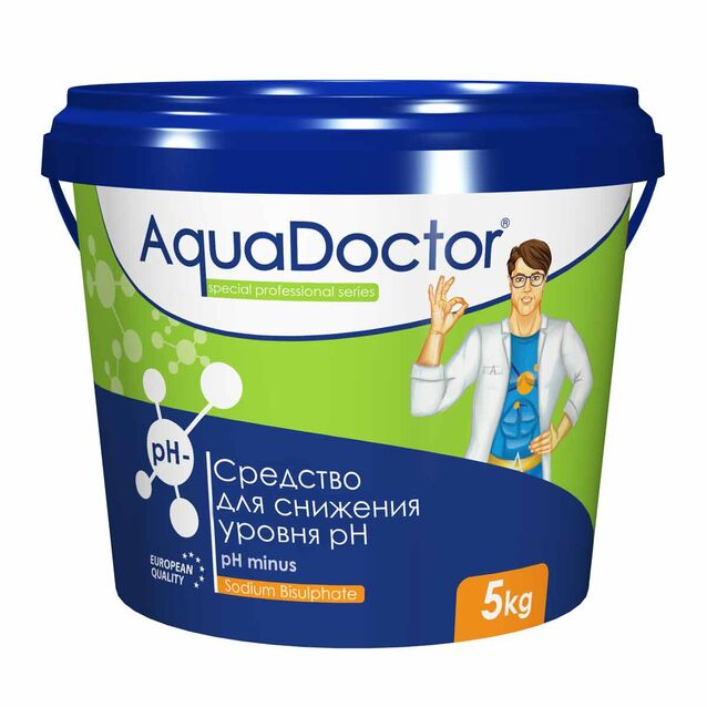 pH-минус в гранулах, AquaDoctor pH-Minus, 5 кг, средство для понижения уровня pH воды