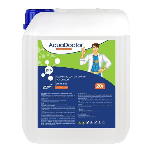 pH-минус жидкий, AquaDoctor pH-Minus, 20 литров, средство для понижения уровня pH воды