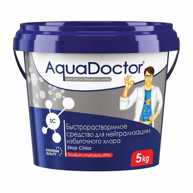 Средство для нейтрализации избыточного хлора, AquaDoctor SC Stop Chlor, в гранулах, 5 кг