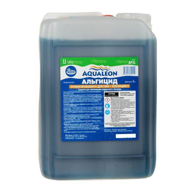 Альгицид Aqualeon AP5L, 5 литров, пролонгированного действия, непенящийся. Средство против водорослей